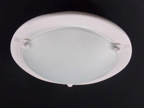 Luminária Plafon Redondo Vidro Itamonte 25cm 1l