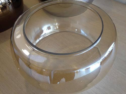 Pendente Modern Cristal Vidro Champanhe 6l Bella 50cm C/lâmp