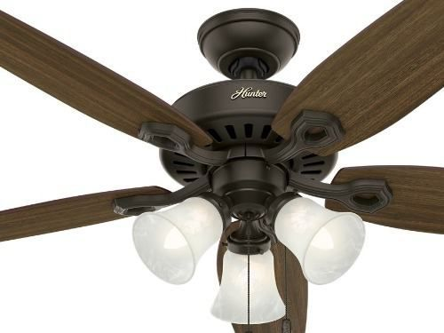 Ventilador Hunter De Teto Builder Plus Bronze Novo 127v