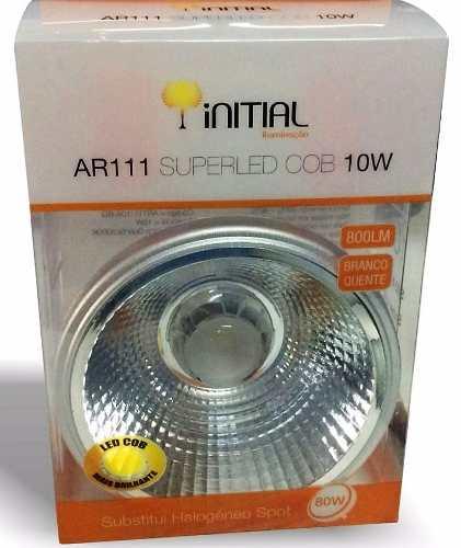 Lampada led ar111 10W branco quente bivolt Initial