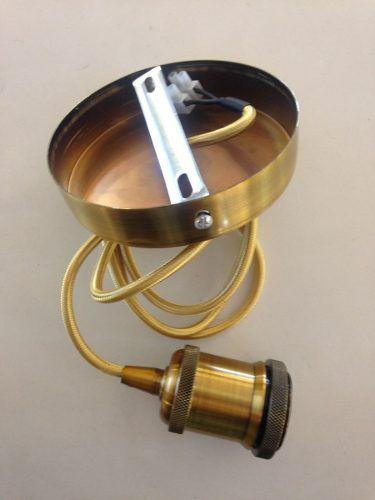 Pendente Retro Soquete Ouro Velho E-27