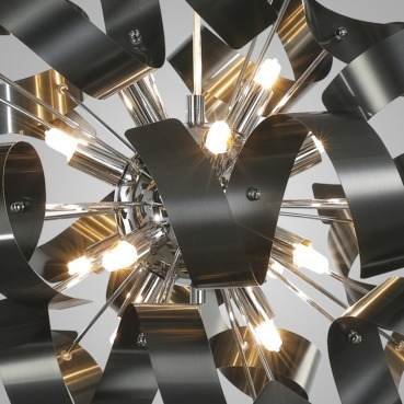 Lustre Pendente 60cm Preto Fosco +luz