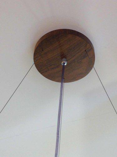 Pendente Madeira 50cm Diâmetro