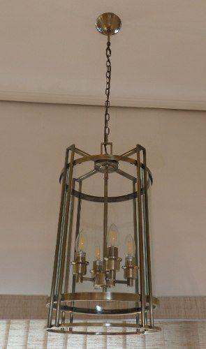 Lustre Pendente Classico Bronze Br 011a- Bella