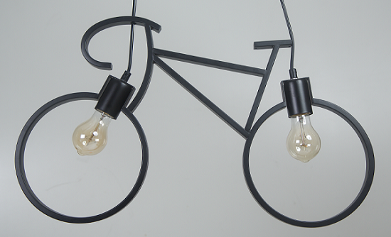 Luminária Pendente Bike Preta