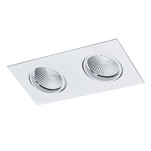 Spot Duplo Embutir Dicroica Bellaluce C/ Lamp. Branco Quente