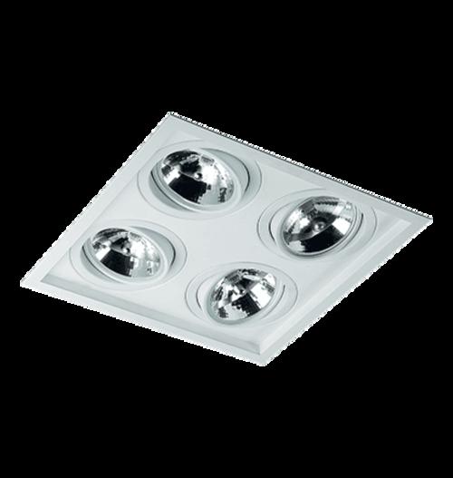 Spot Embutir 4 Lampadas Ar111 Recuado 1015/4 Branco