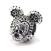 Charm Mickey Mouse Brilhante  Prata925