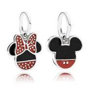 Pendentes Mickey E Minnie Prata925