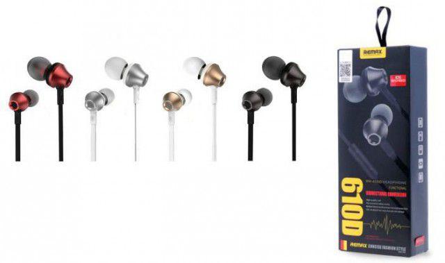 Fone de ouvido com fio Remax 610D