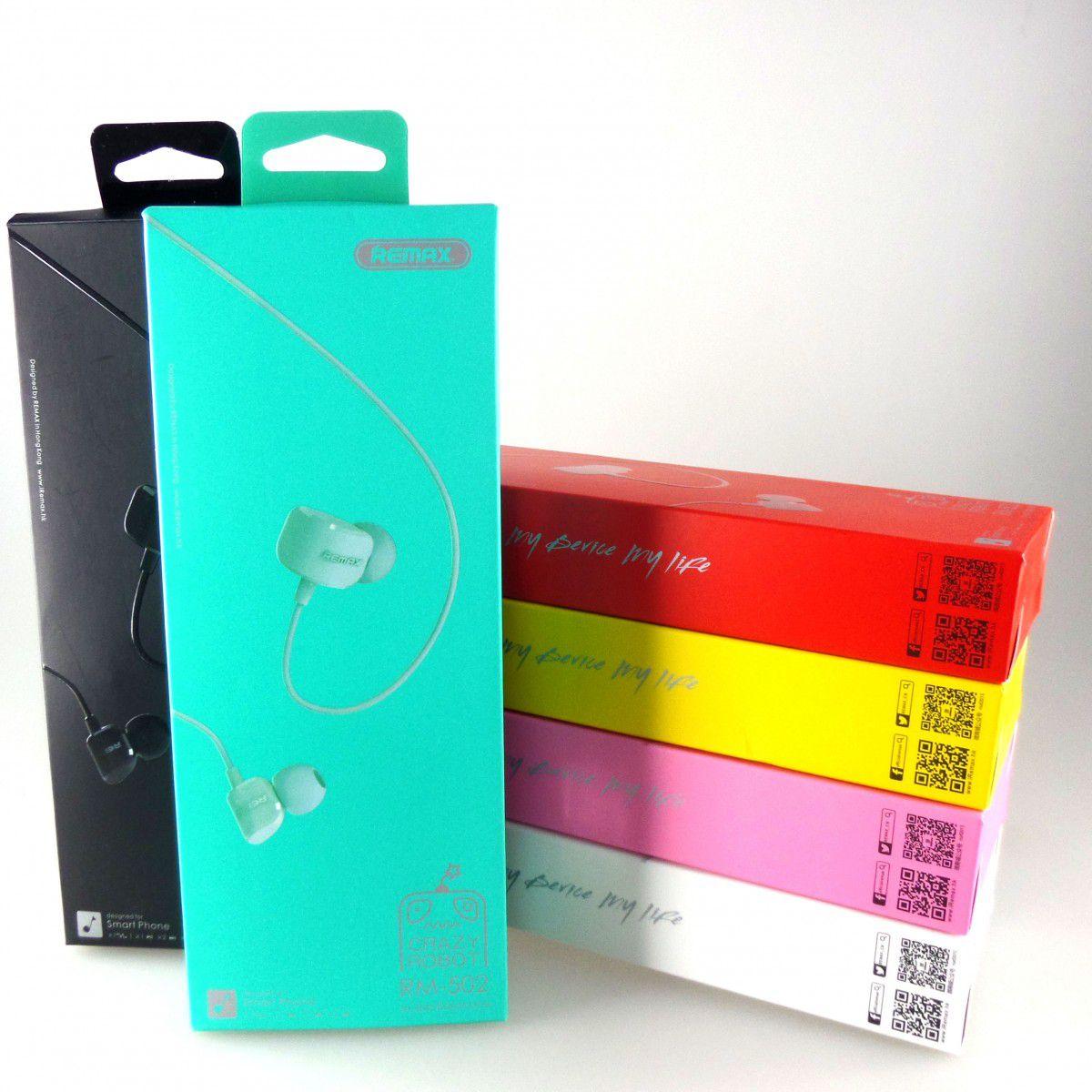Fone de ouvido com fio Remax RM-502