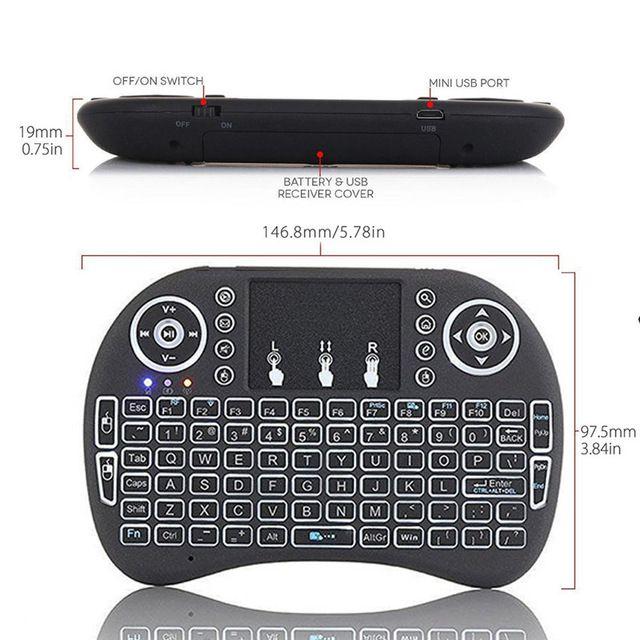Mini teclado sem fio Wireless Keybord