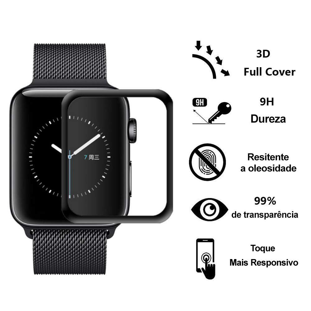 Pelicula de vidro 3D Apple Watch 38mm/40mm