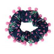 Elástico de Cabelo Infantil Scrunchie Ania Store Malibu Azul