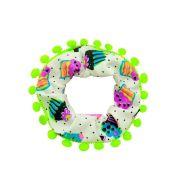Elástico de Cabelo Infantil Scrunchie Ania Store Piggies Branco