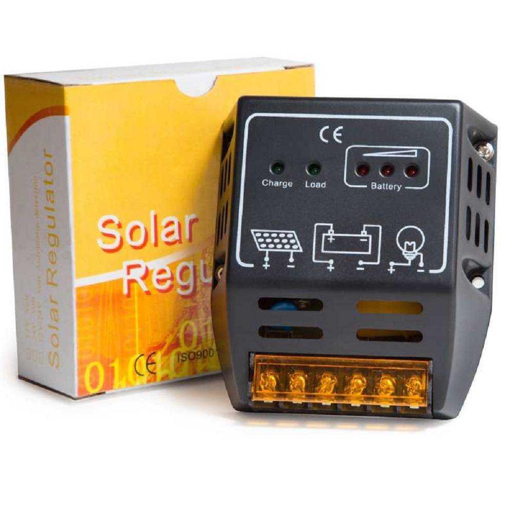 CONTROLADOR CARGA DE BATERIA PAINEL SOLAR 12V/24V 12A
