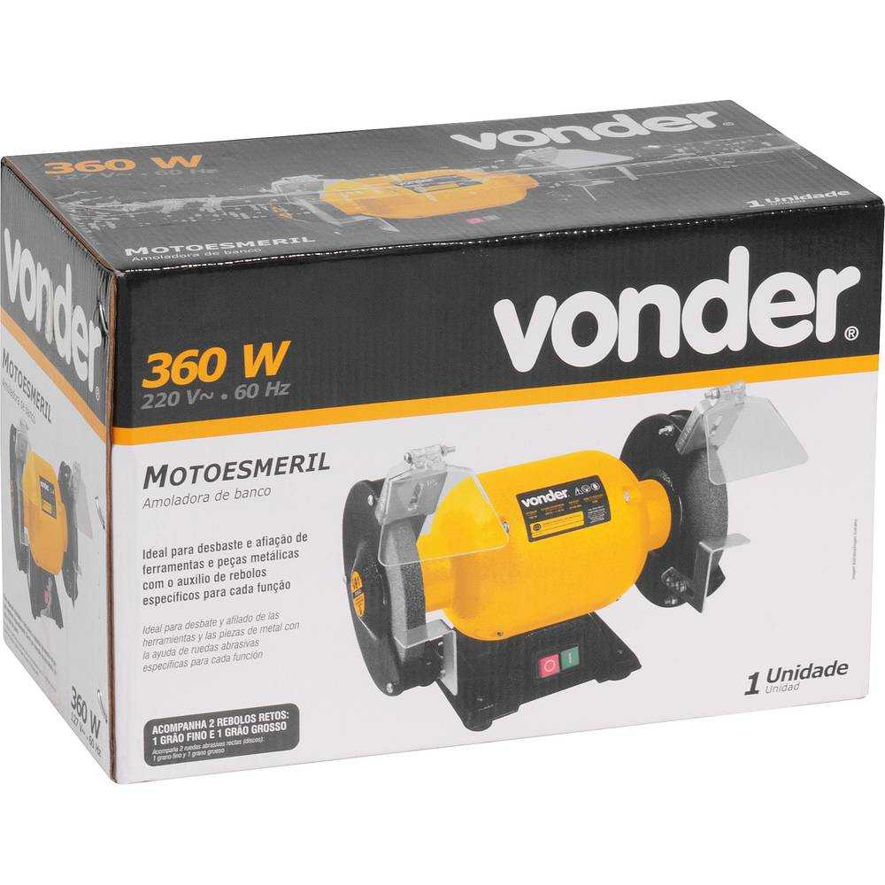 MOTO ESMERIL VONDER 360W 3450 RPM