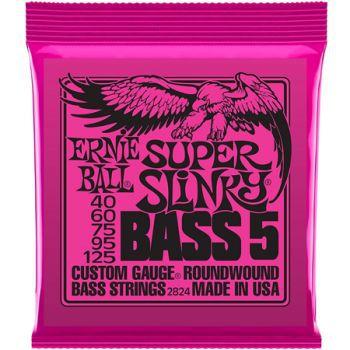 Encordoamento Contra Baixo Ernie Ball Super Slinky Bass 5 040 5 Cordas