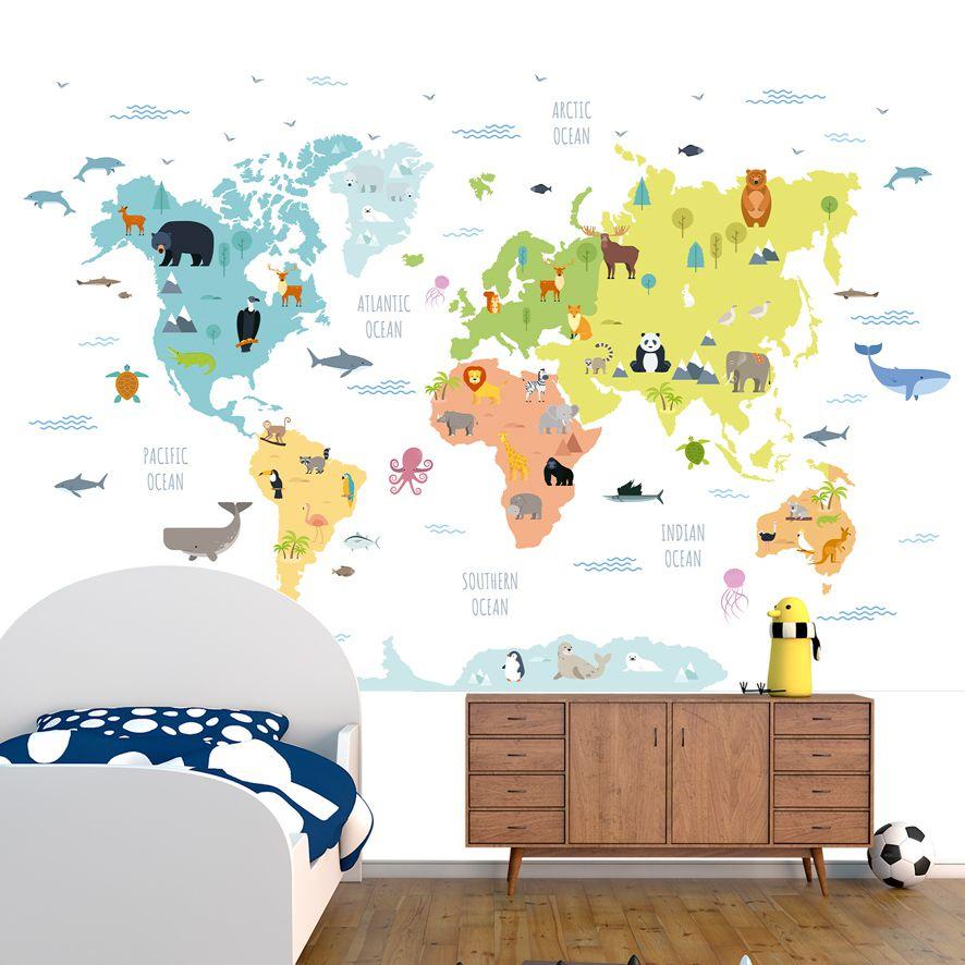 Adesivo de Parede Foto Mural Mapa Safari F281