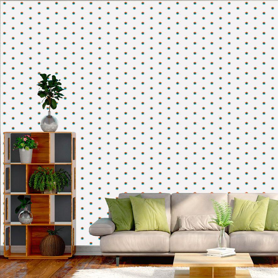 Papel de Parede Adesivo Abstrato Geométrico P675