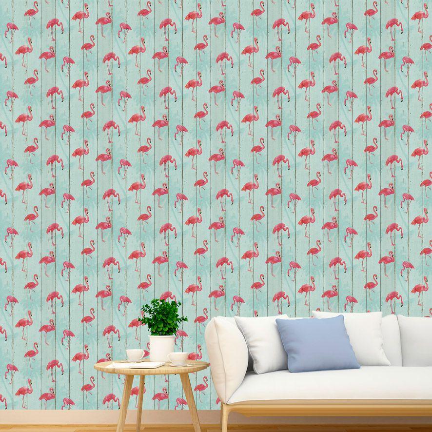 Papel de Parede Adesivo Flamingo P004V