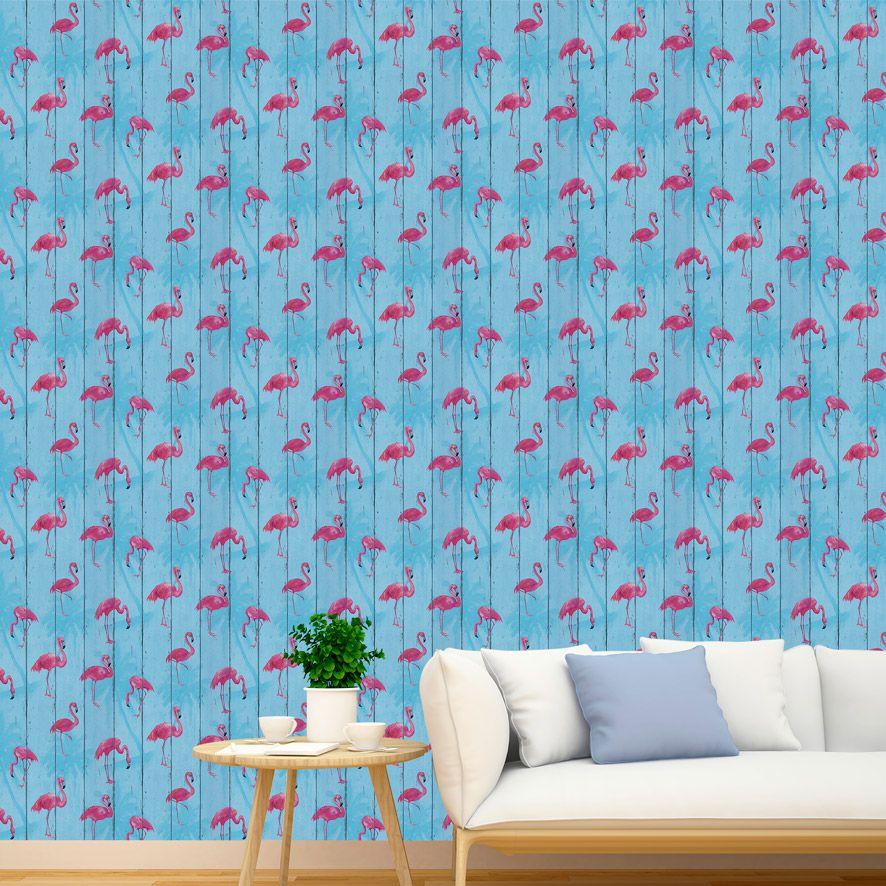 Papel de Parede Adesivo Flamingo P004A