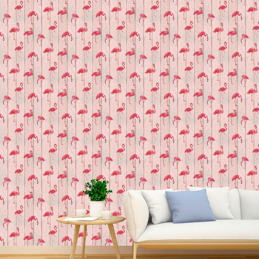 Papel de Parede Adesivo Flamingo P004R