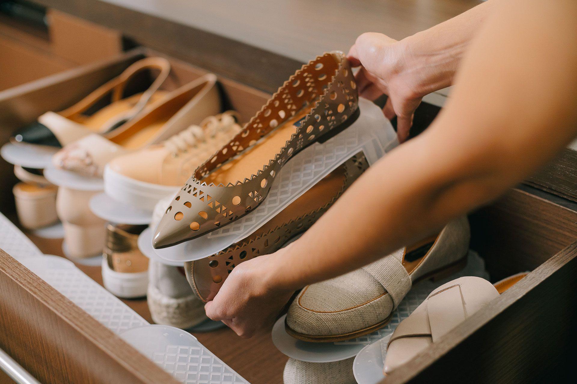 Organizador de Sapatos Incolor - Kit 10 unidades