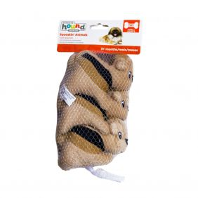 Brinquedo Outward Hound Hide-a-Squirrel - Refil 3 Esquilos