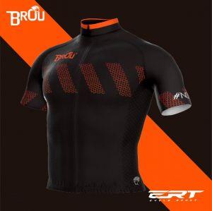 Camisa Brou New Pto/Laranja