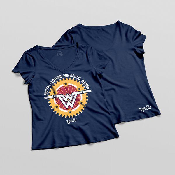 Camisa Baby Look Azul Fem