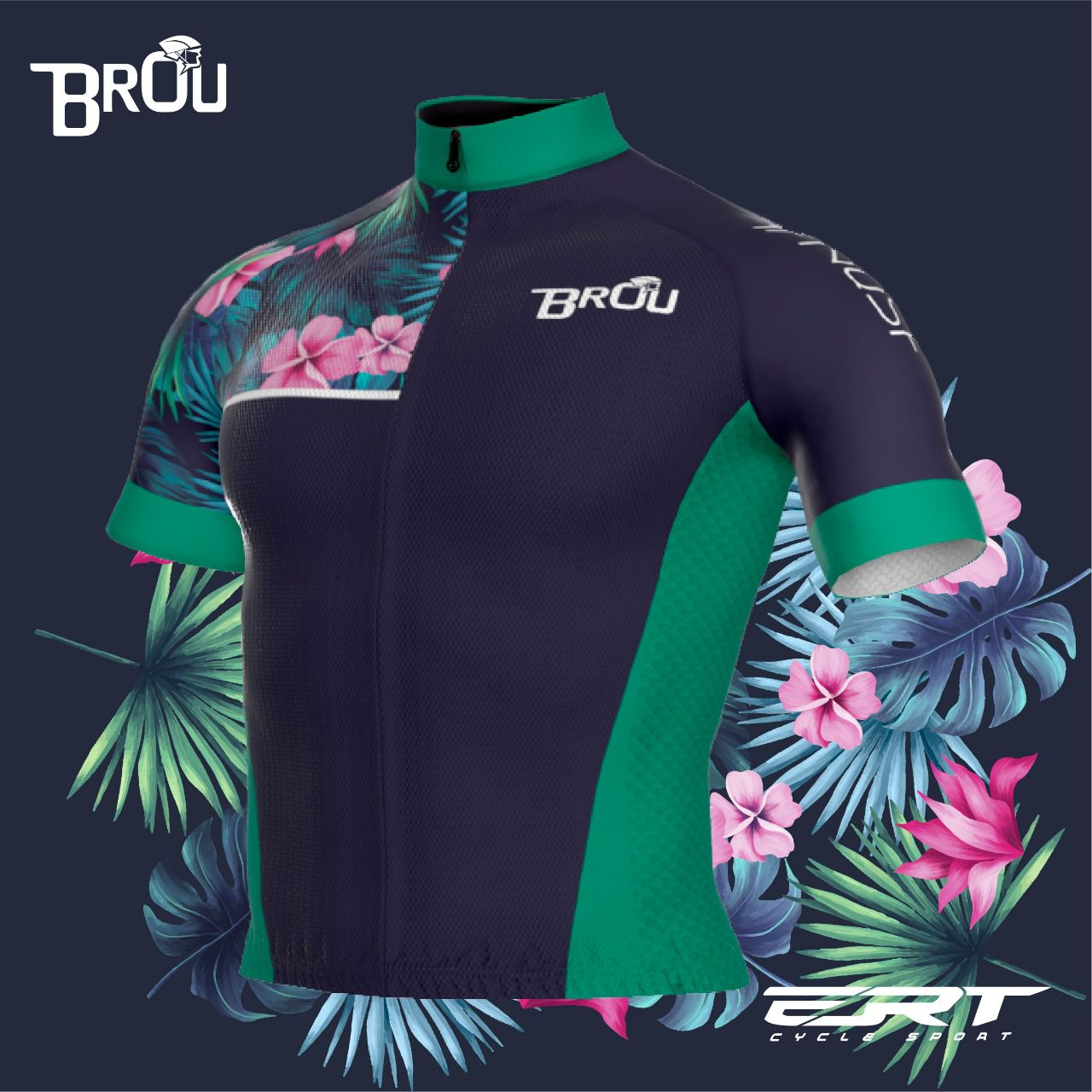 Camisa Brou New Green Flowers