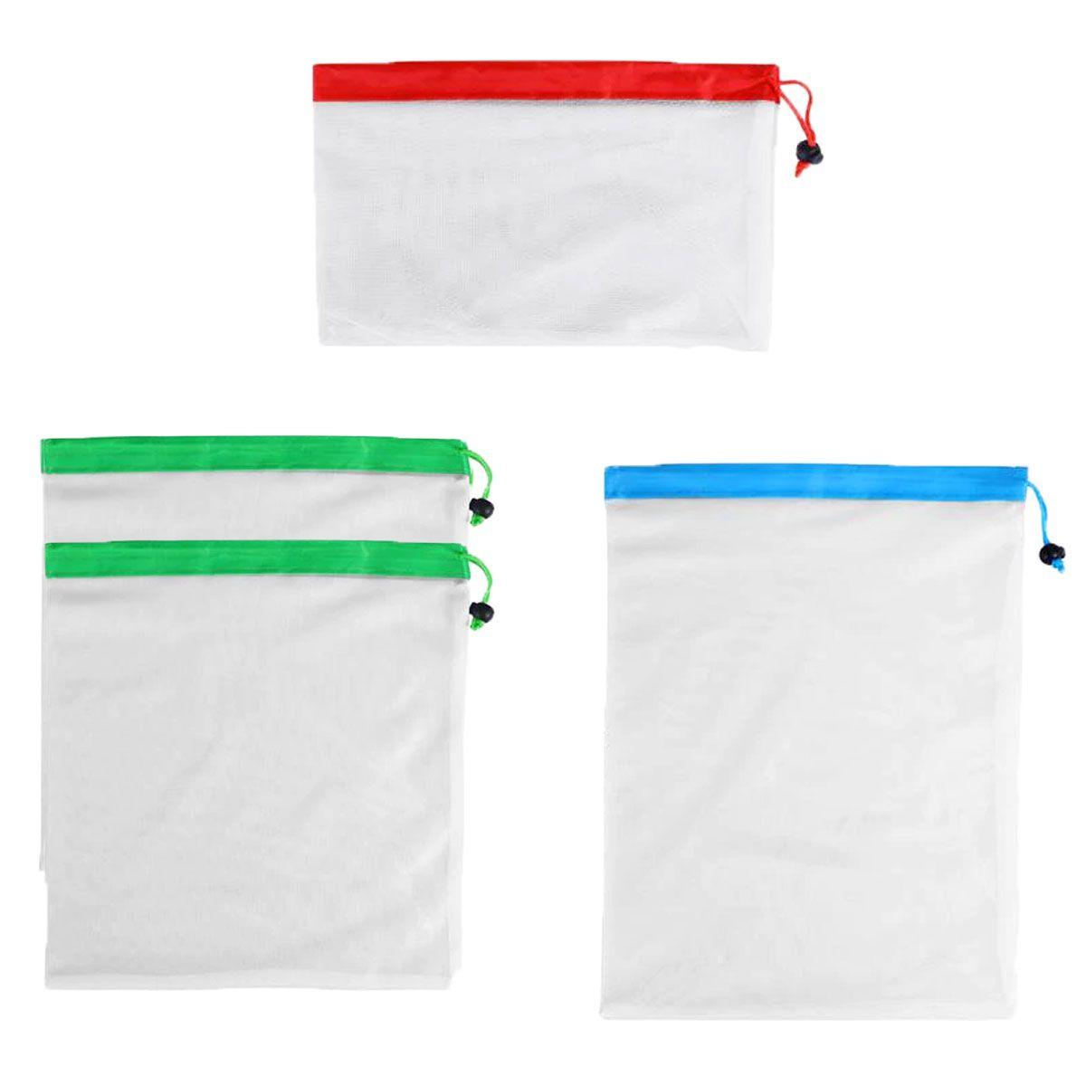 Kit de Ecobags Respiráveis com diversos tamanhos (kit com 4)