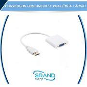 Adaptador HDMI para VGA com Audio