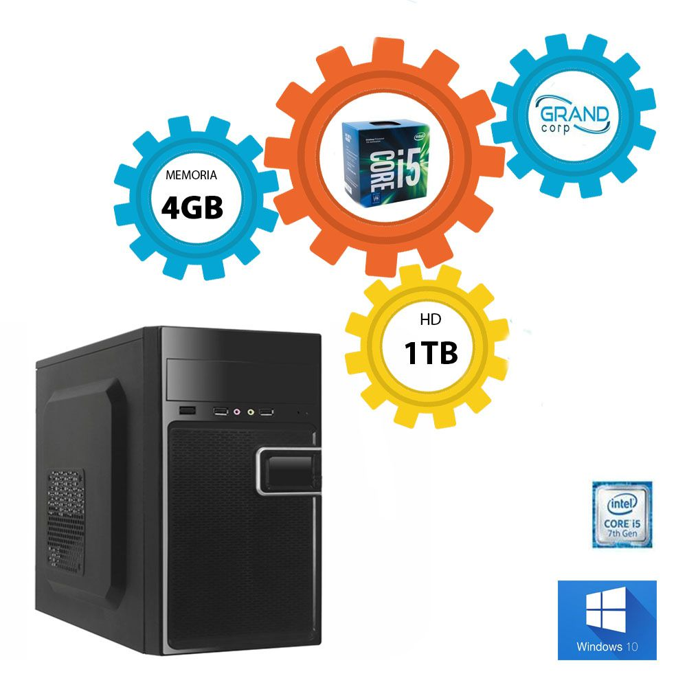 Desktop PC CORP Core i5 7ª geração c/ Windows 10 Pro OEM