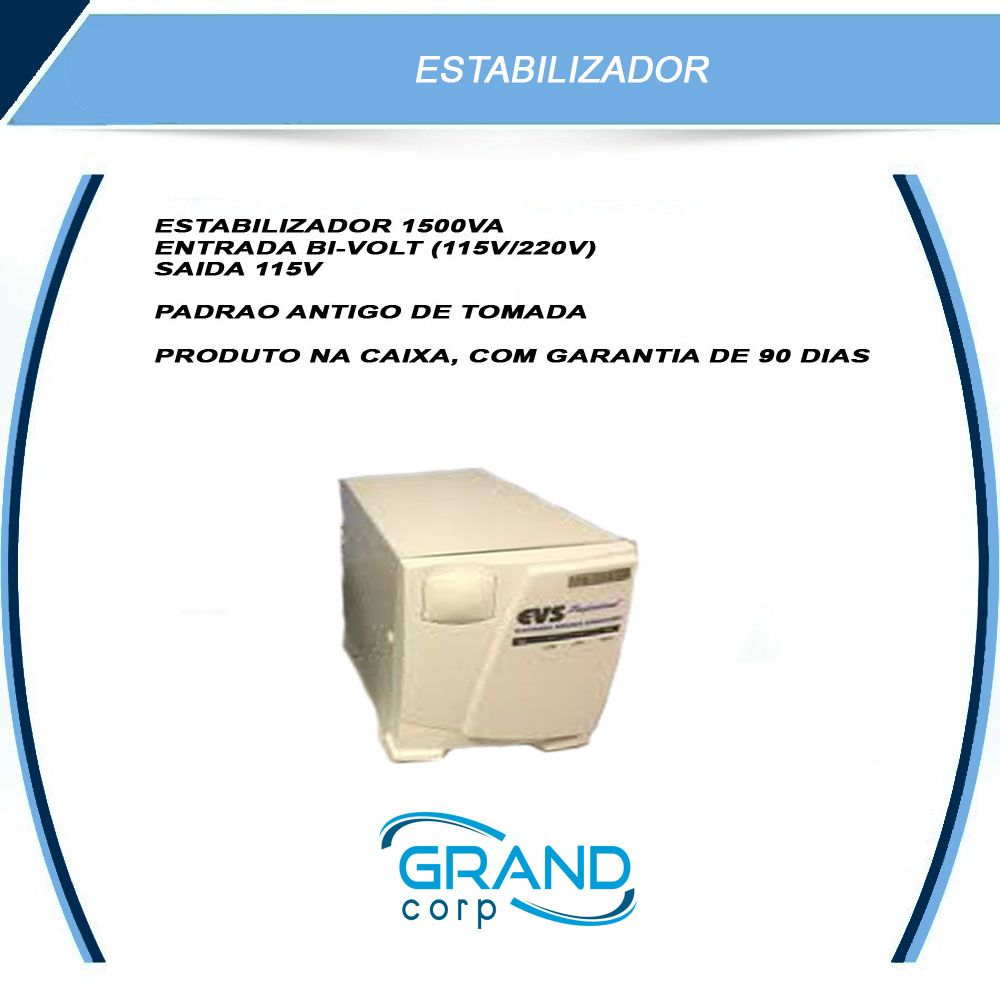 ESTABILIZADOR EVS PROF 1500 PLUS