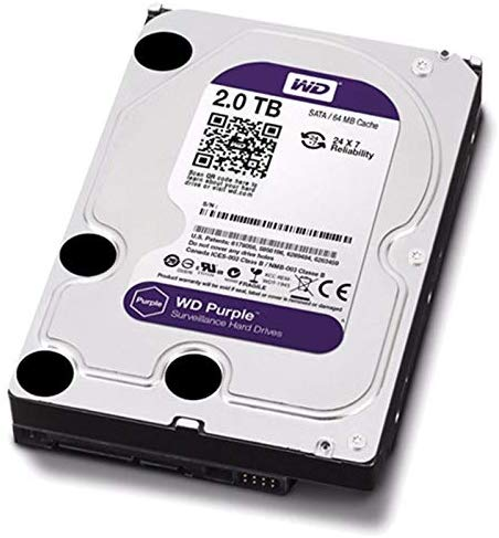 HD INTERNO 2TB WESTERN DIGITAL PURPLE SATAIII 64MB