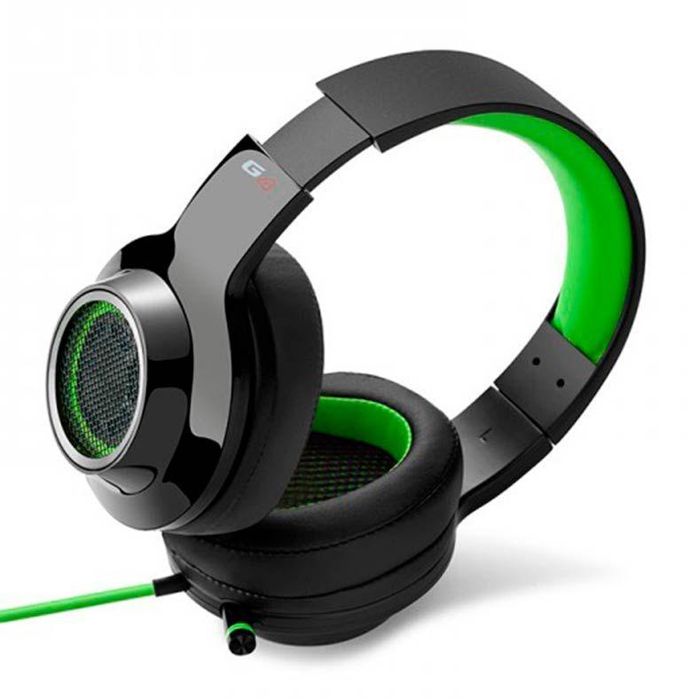 Headset Gamer 7.1 Virtual EDIFIER G4 Over-Ear - Preto-Verde