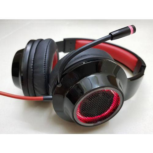Headset Gamer 7.1 Virtual EDIFIER G4 - Over-Ear - Preto-Vermelho