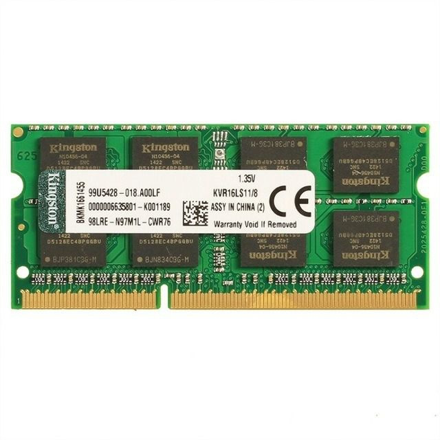MEMORIA KINGSTON 8GB DDR3 1600 SODIMM