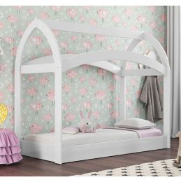 Cama Infantil Montessoriano 100% MDF Dora Branco