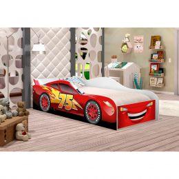 Mini Cama Carro Corrida 07 Vermelho