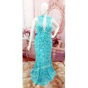 Vestido de madrinha sereia azul tiffany