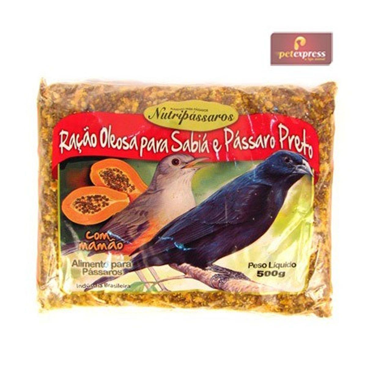 Ração Oleosa para sabiá e pássaro preto