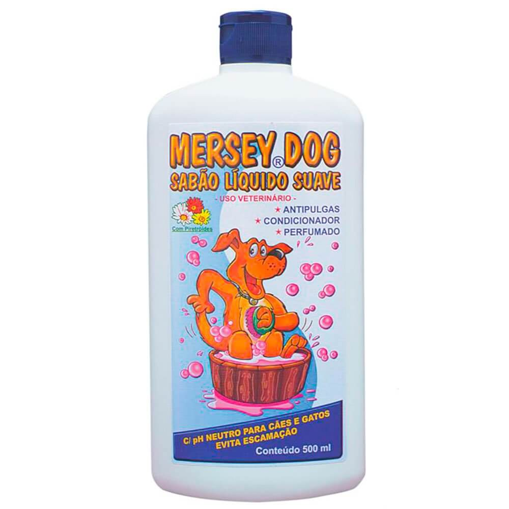 Shampoo Mersey Dog anti pulgas