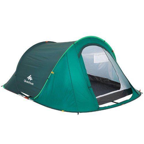 1f4dfb55e ... Barraca Trilha Camping 2 Seconds Easy 3 Pessoas Quechua Impermeável ...