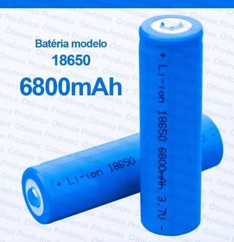 Pilha Bateria Recarregável Lanterna Tática 9800mah Lítio 4 2v