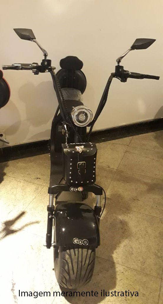Bagageiro de Couro para scooter elétrica citycoco