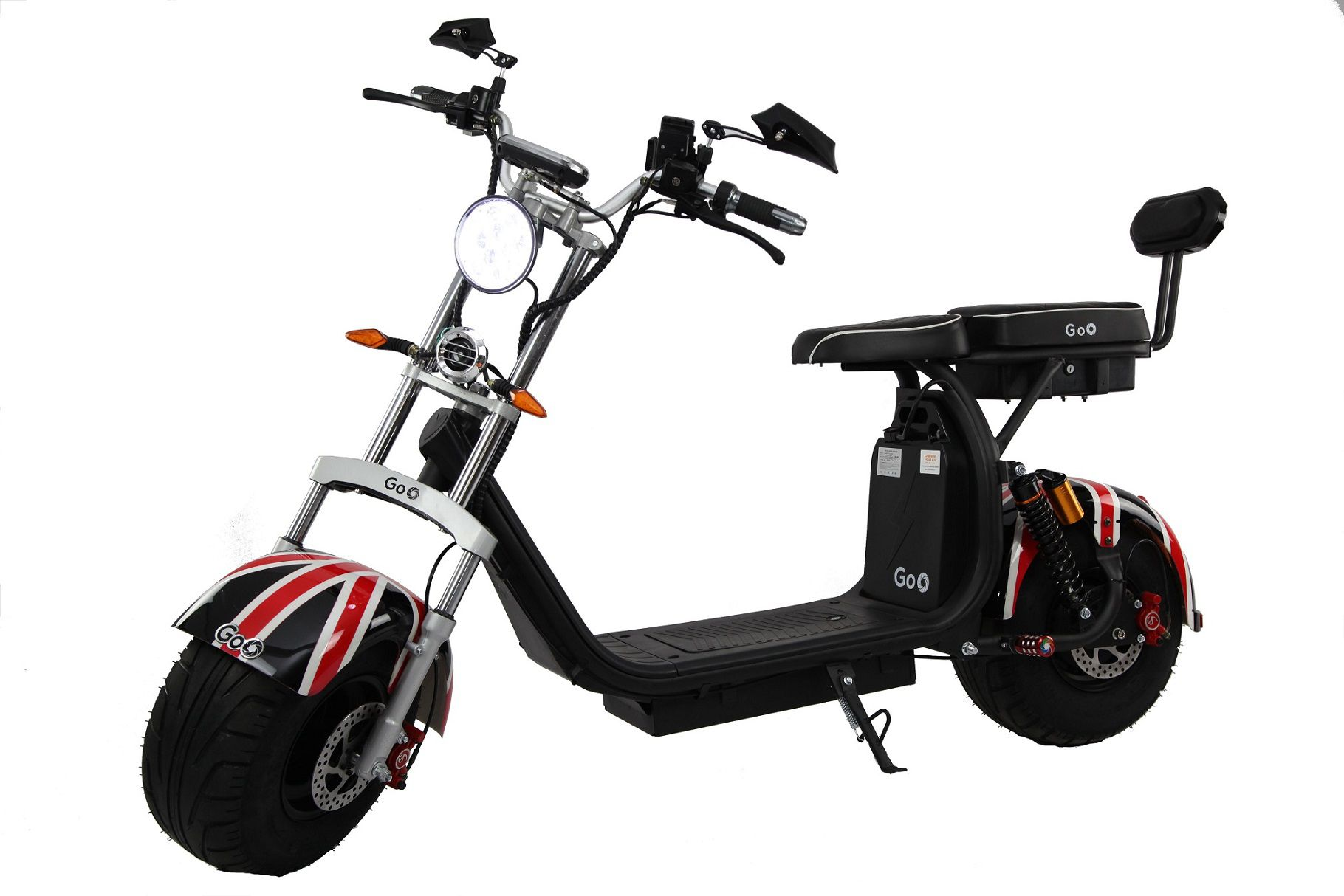 Scooter elétrica citycoco X10 2000W com bateria 30Ah