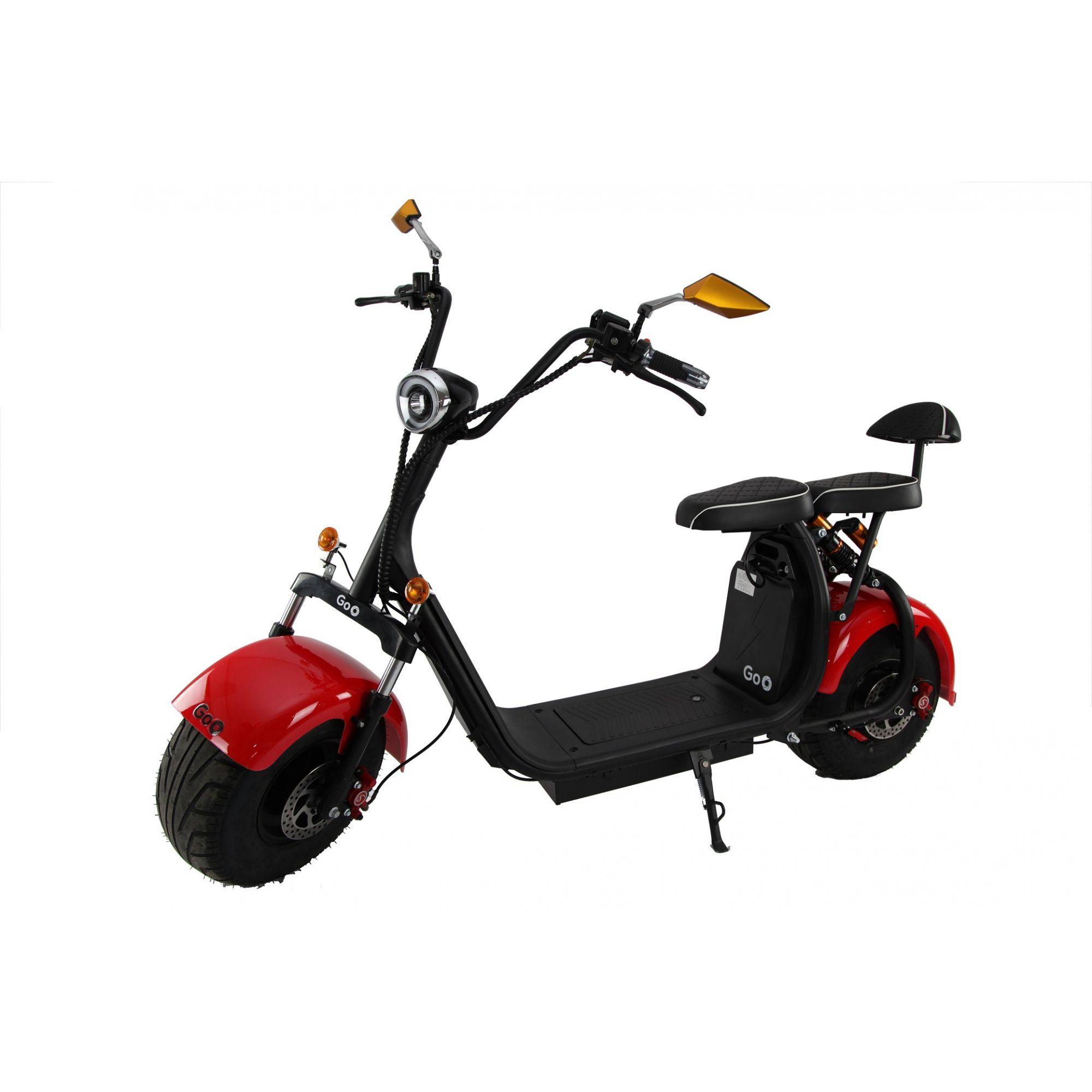 Scooter elétrica citycoco X7 2000W com bateria 30Ah
